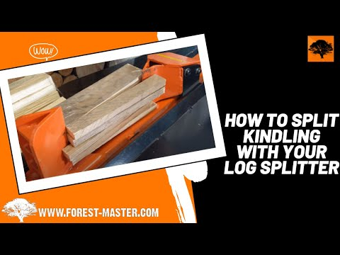 How to Split Kindling with your Log Splitter