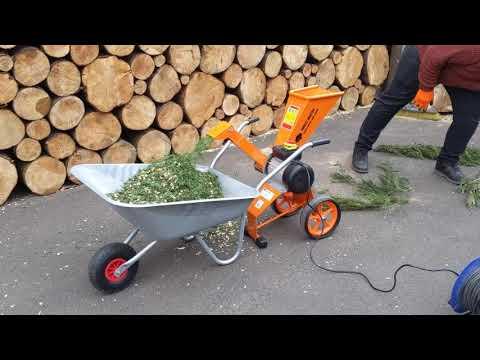 Compact 4HP Electric Wood Chipper - Garden Shredder (FM4DDE)