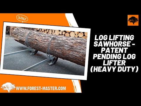 Log Lifting Sawhorse - Patent Pending Log Lifter (Heavy Duty)
