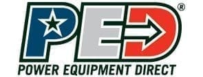 PED, Power Equipment Direct Logo, Star and Arrow Text