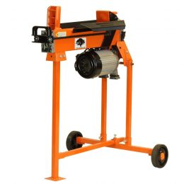 5 Ton Fast Lightweight Electric Log Splitter with stand work bench and guard, FM5T-TC