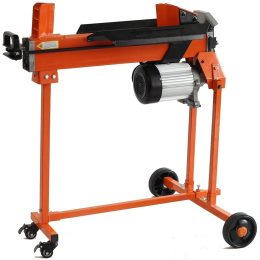 5 Ton Duocut Electric Log Splitter with Work bench guard and trolley, FM10TW-TC