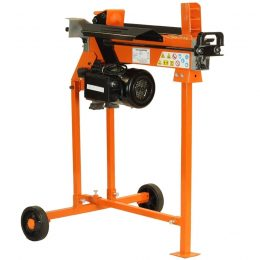 5-Ton Electric Log Splitter with Work Bench guard and stand, FM8T-TC
