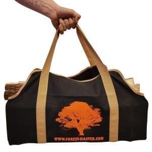 Heavy Duty Canvas Log Carrier Firewood Bag, Forest Master Bag, FM-CVB