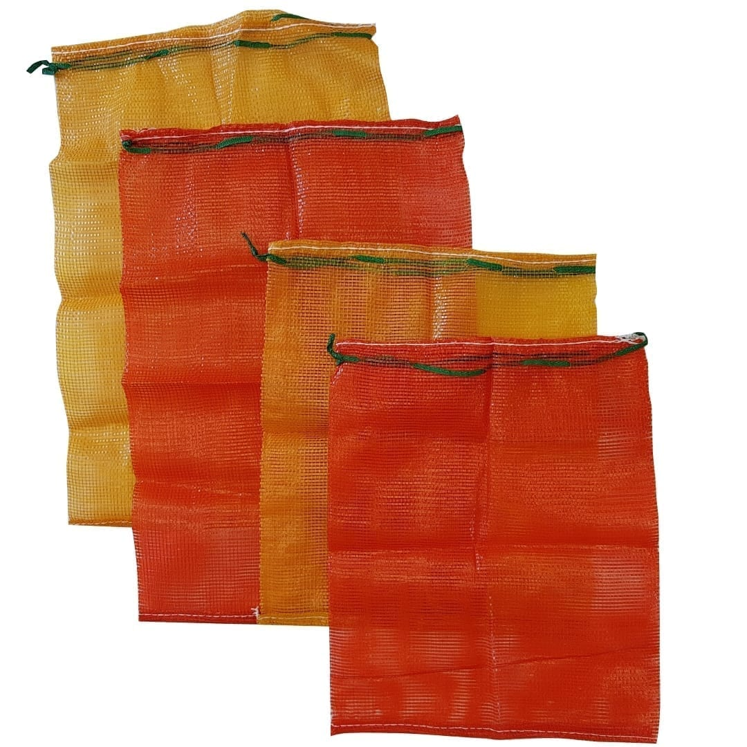 Forest Master Mesh Log Bag, 50cmx60cm, 55cmx80cm, Orange Bag and Red Bag