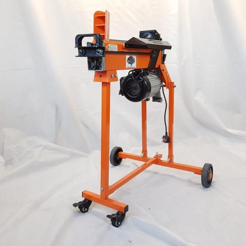 5 Ton Fast Lightweight Electric Log Splitter with Work Bench Guard and Trolley, FM5TW-TC