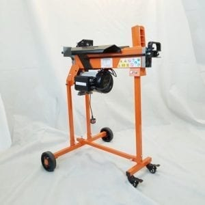 5-Ton Electric Log Splitter with work bench guard and trolley, FM8TW-TC