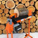 7 ton machine splitting logs