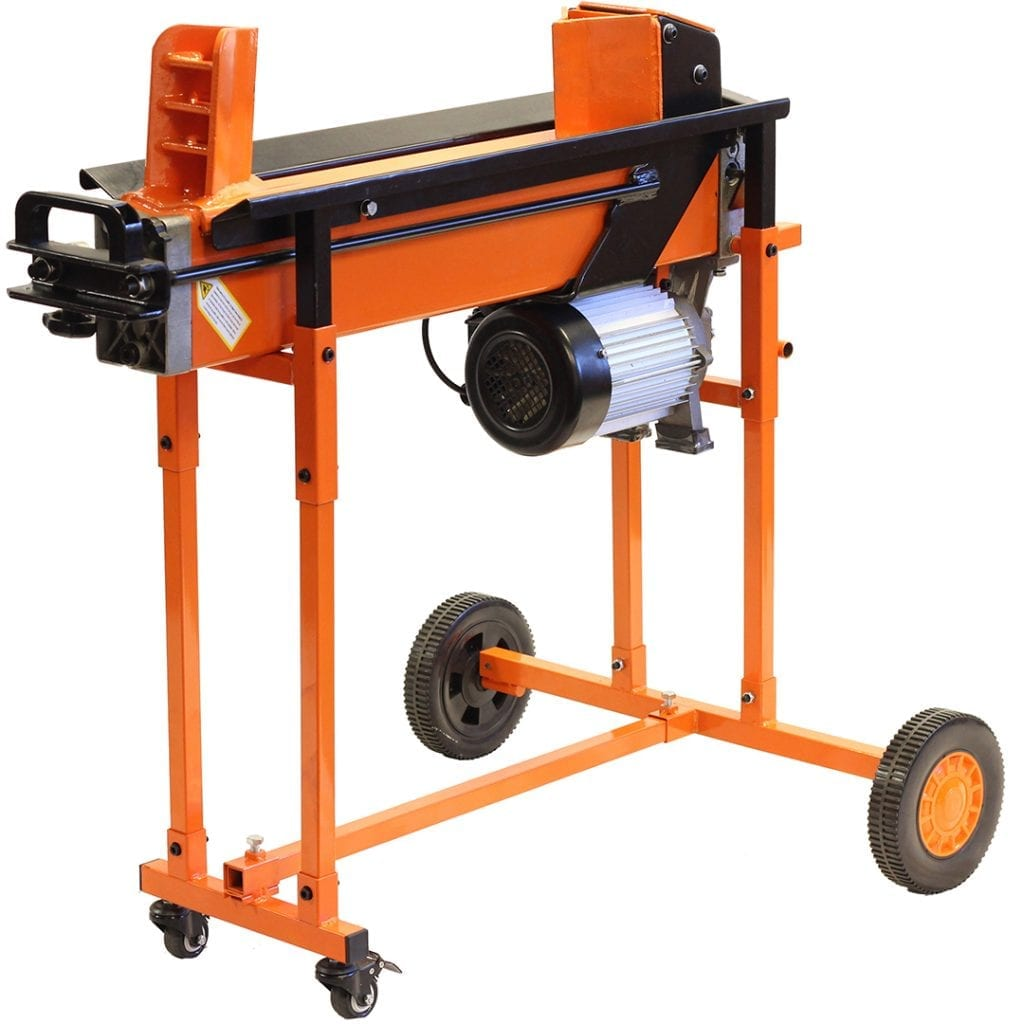 8 Ton 2 Speed Duo Electric Log Splitter with Workbench guard and trolley, FM16TW-TC
