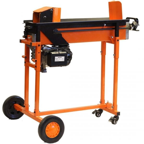 8 Ton 2 Speed Duocut Electric Log Splitter with Work bench, Guard & Trolley FM16TW-TC