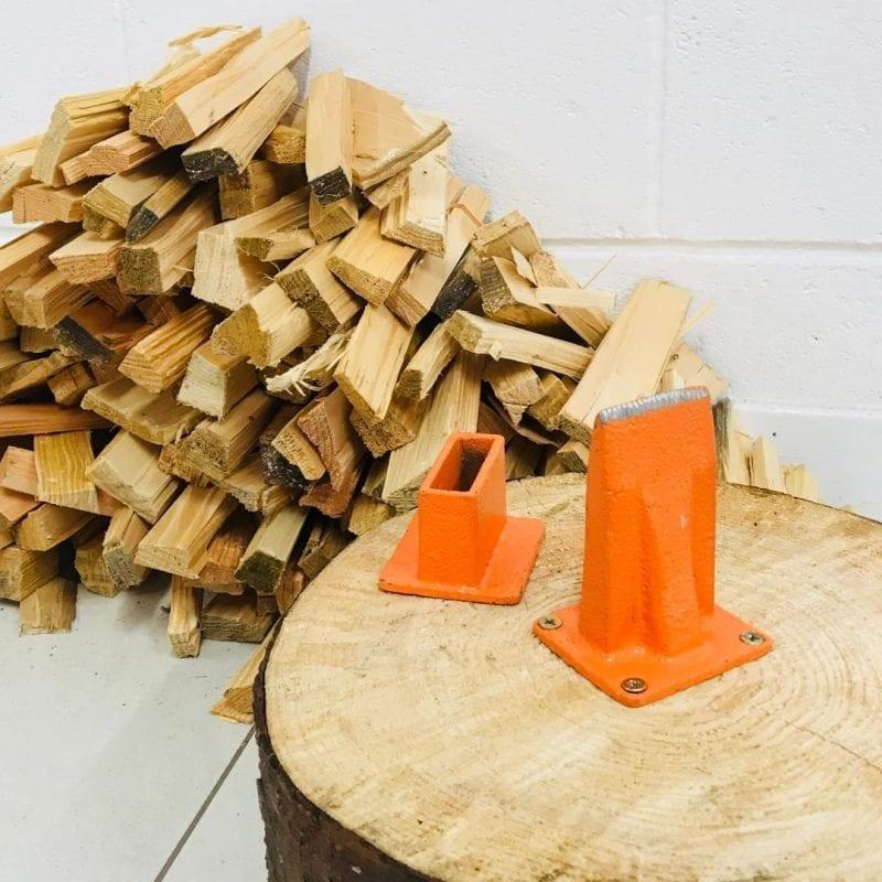 Forest Master Kindling Axe Duocut, Manual Splitter Base Blade, Orange Splitter, USBB