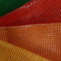 Mesh log bags, bag colour variation, mesh bag