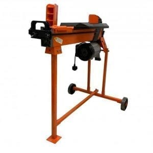 7 Ton Electric Log Splitter, Heavy Duty with work bench guard and stand, FM10T-7