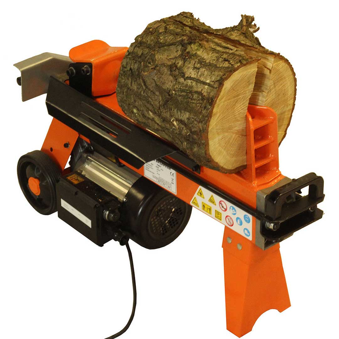 5 Ton Fast Lightweight Electric Log Splitter 300mm with Work Bench and Guard, Fm5D-TC