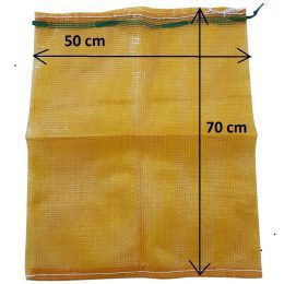 mesh log bag, yellow, 50x70