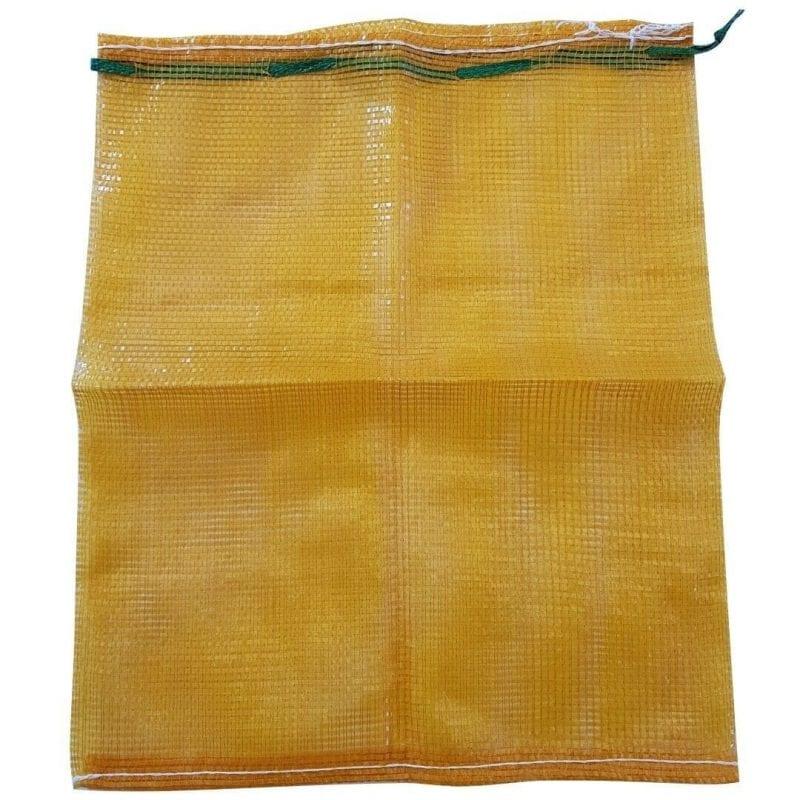 yellow mesh bag
