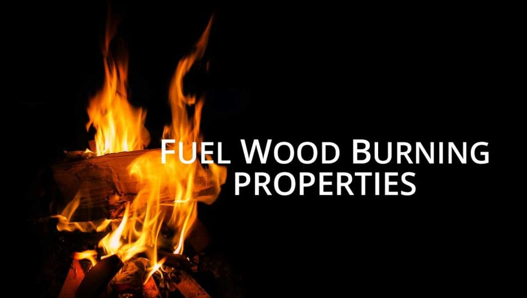 Wood burning properties