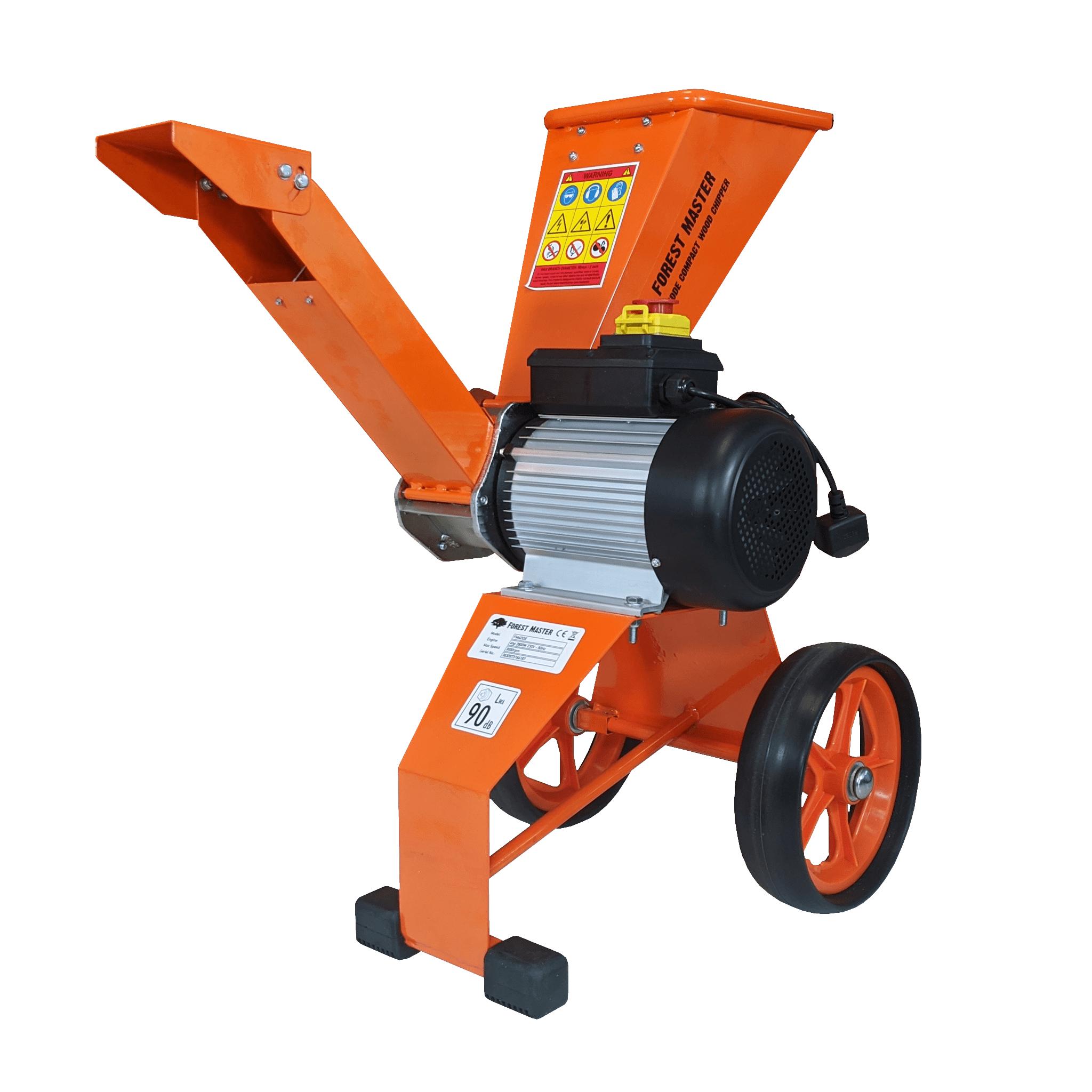 Compact Electric Wood Chipper Garden Shredder 4hp Direct Drive