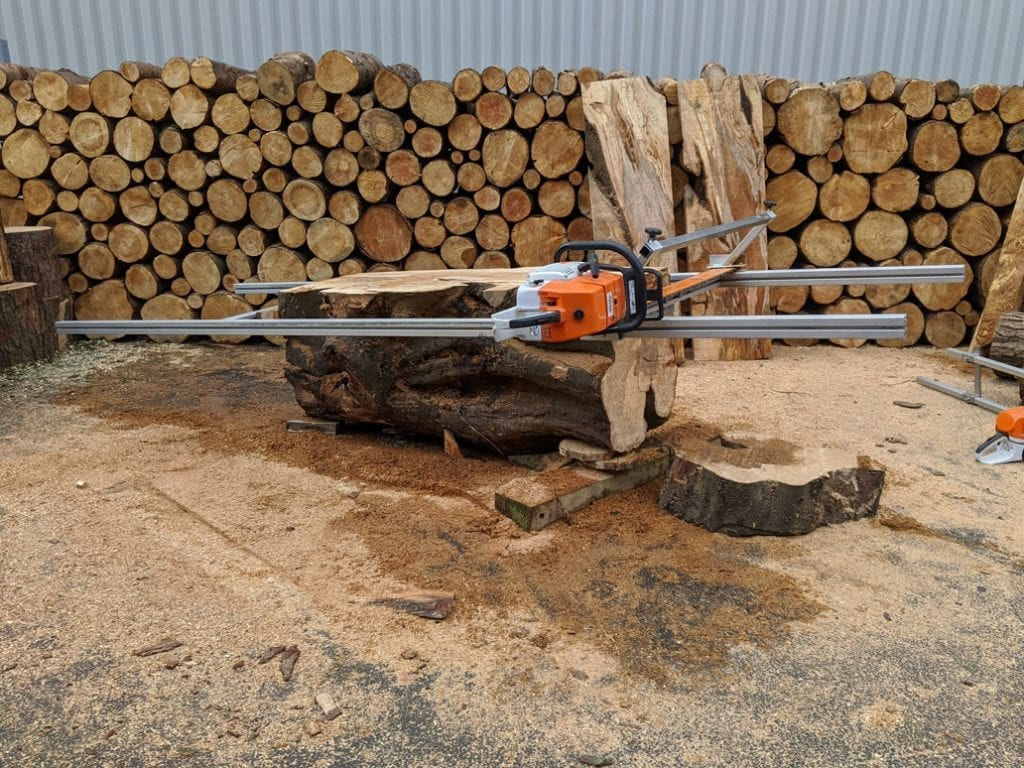 universal woodworking station, chainsaw sawmill, extension bars, chainsaw guide bars