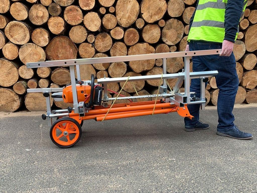 Universal Sawmill, Wheel Attachment, Chainsaw mill, Portable Sawmill