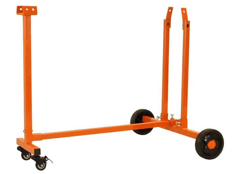 Trolley Stand, Four Wheels, Orange Paint, Forest Master
