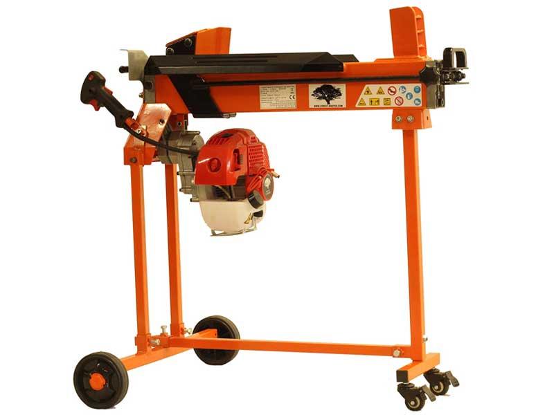 Petrol Log Splitter, Petrol Engine, trolley stand, duocut blade, ramstop