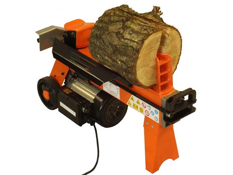 Electric Log Splitter, FM5D-TC, Splitting Wood, 5 Ton Log Splitter