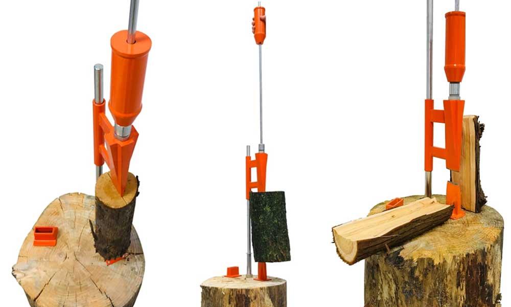 smart splitter, manual splitter, forest master, FMSS, duocut blade, log splitting