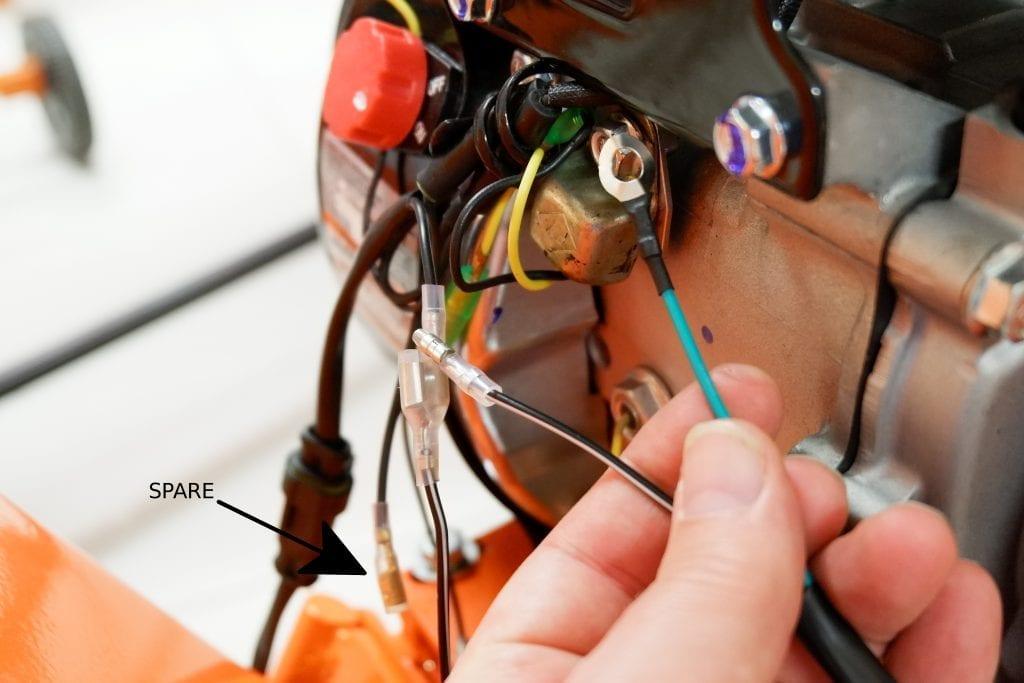 6.5 wood chipper, wiring, engine wire