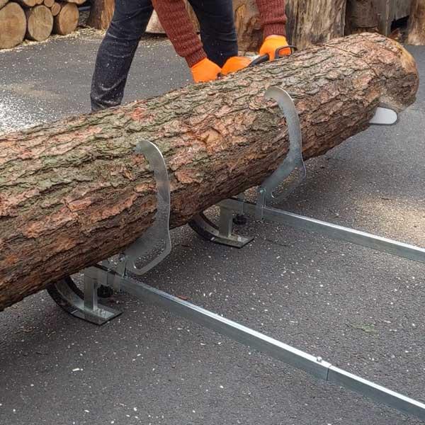 log lifting sawhorse, fmll, chainsaw