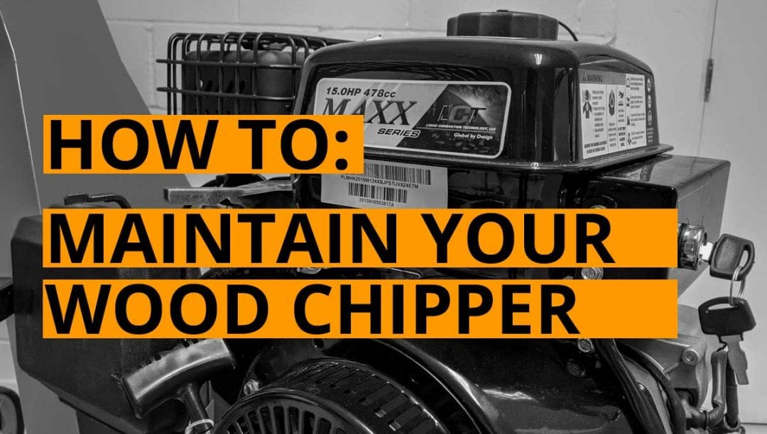 maintain wood chipper, forest master weod chipper, belts, petrol