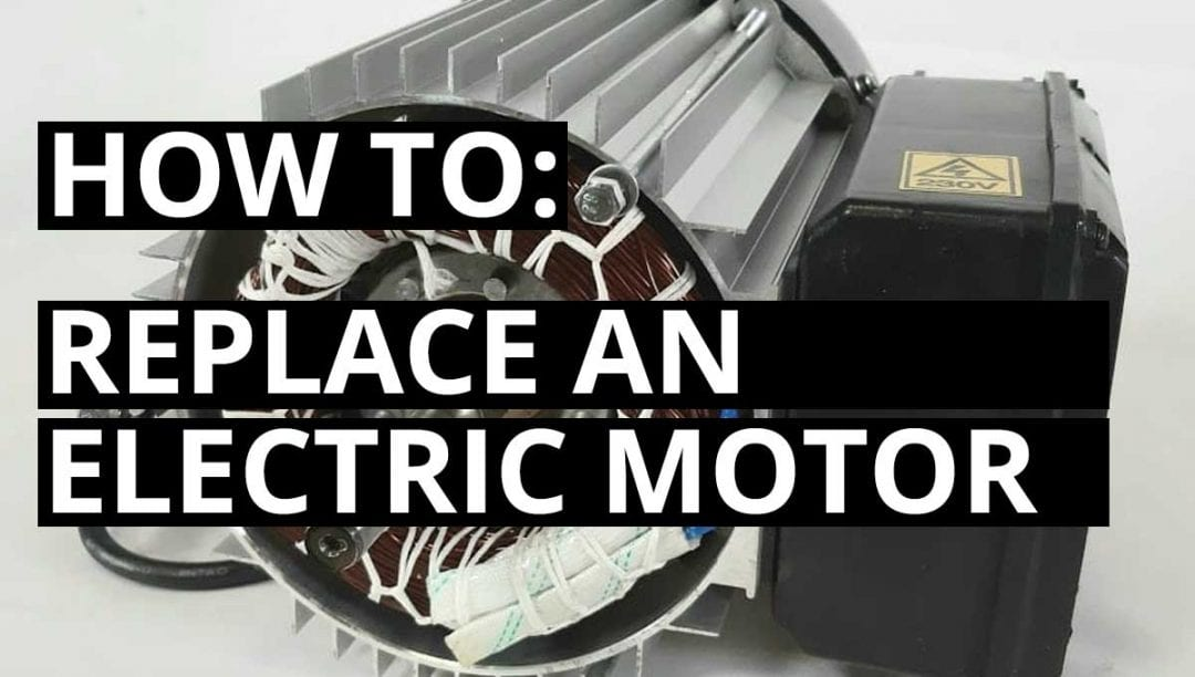 how to replace electric motor, electric log splitter