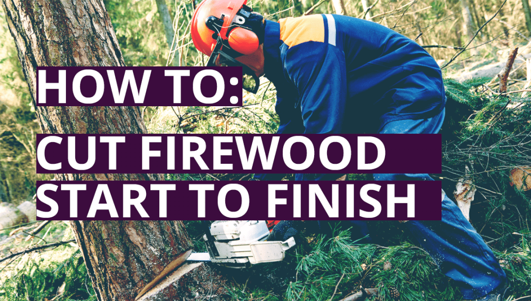 Cutting Firewood Banner