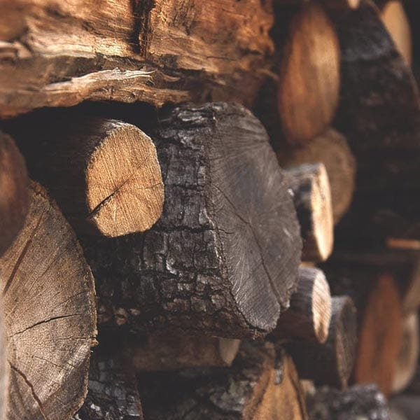 seasoned firewood, log pile