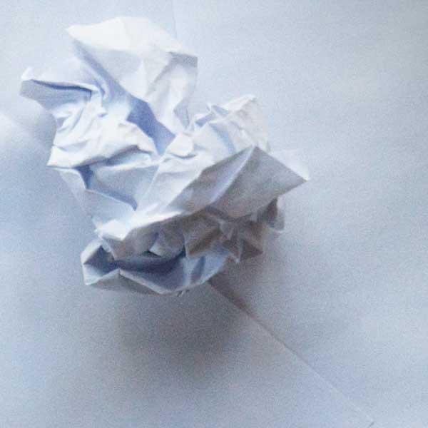 scrumpled paper