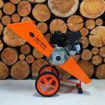 garden mulcher, mulching machine, tilting hopper