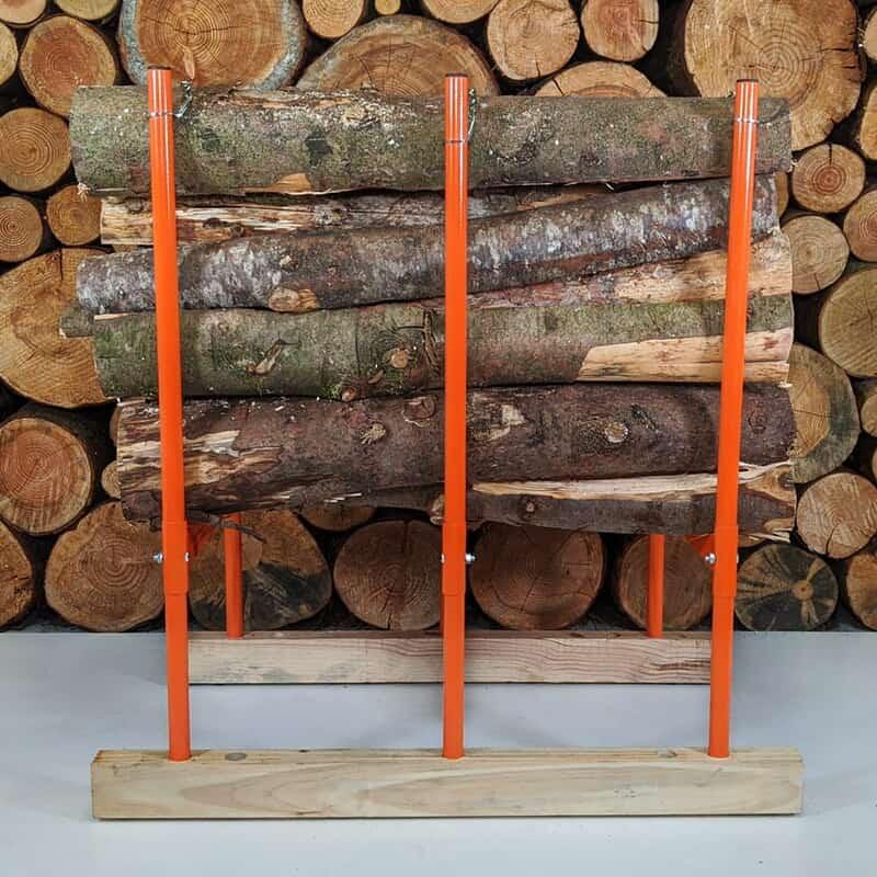 sawhorse for logs, bulk logs