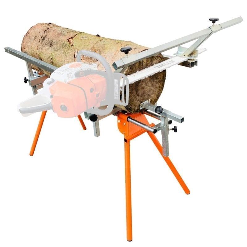 chainsaw sawmill, sawhorse for logs