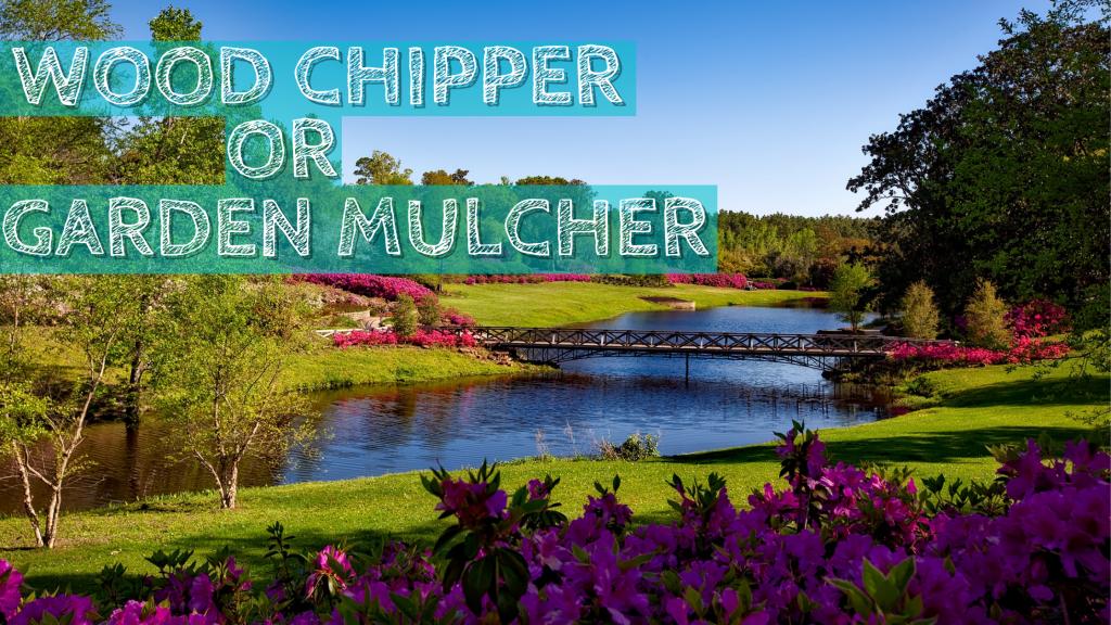 Forest, Mulch, Mulching, Wood Chipper, Trees, Flowers, Bridge