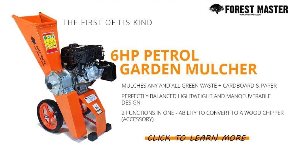 garden mulcher, petrol mulching machine