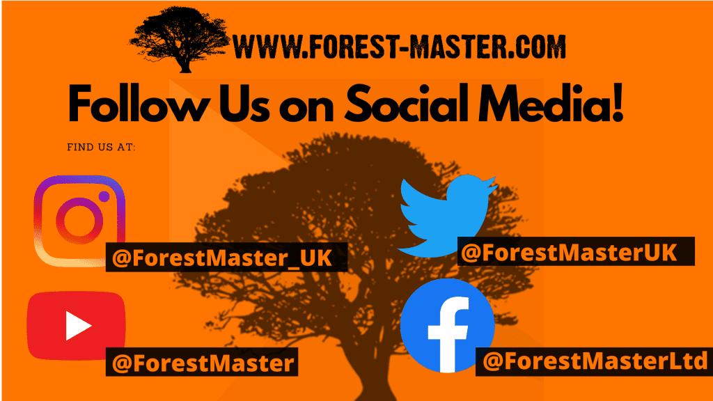 Forest Master, Social Media, Twitter, Facebook, Instagram, YouTube, Mulching Machine