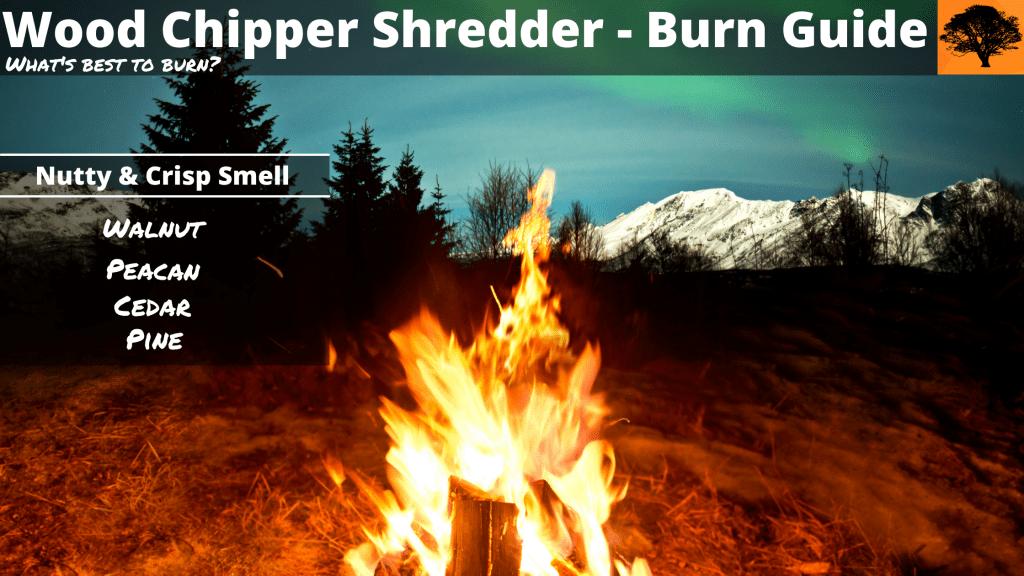 nutty smell, crisp smell, fire, firewood, forestmaster, northern lights, burn, burning
