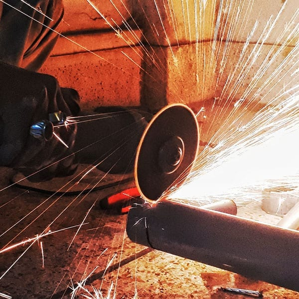 Using an Angle Grinder to cut metal