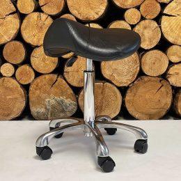 saddle stool, log splitter stool
