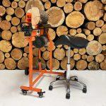 log splitter stand, saddle stool