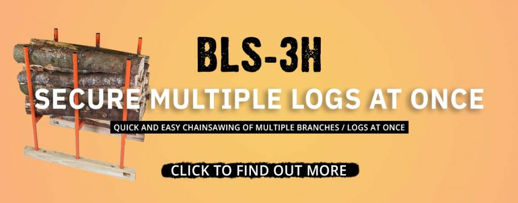 log sawhorse, multiple log holder, bls-3h