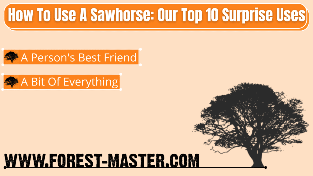 How To Make a Sawhorse, Saw horse, How To Use A Sawhorse, What is a Sawhorse