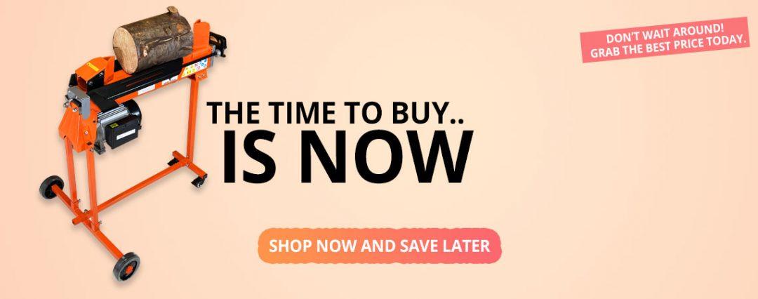 log splitter sale, summer savings, splitting season
