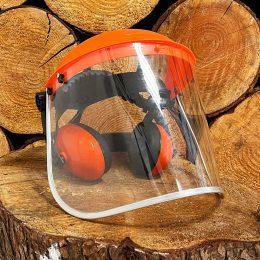ear defenders and visor